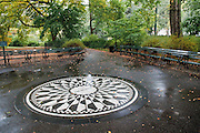 Strawberry Fields Forever - the memorial to John Lennon in Central Park, New York City.