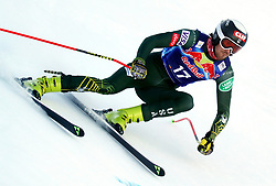 23.01.2020, Streif, Kitzbühel, AUT, FIS Weltcup Ski Alpin, Abfahrt, Herren, 2. Training, im Bild Bryce Bennett (USA) // Bryce Bennett (USA) in action during his 2nd training run for the men's Downhill of FIS Ski Alpine World Cup at the Streif in Kitzbühel, Austria on 2020/01/23. EXPA Pictures © 2020, PhotoCredit: EXPA/ SM<br /> <br /> *****ATTENTION - OUT of GER*****