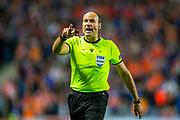 Referee Antonio Miguel Mateu Lahoz (ESP) during the Europa League match between Rangers FC and Feyenoord Rotterdam at Ibrox Stadium, Glasgow, Scotland on 19 September 2019.