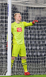 DERBY, ENGLAND - Monday, November 28, 2016: Derby County's goalkeeper Jonathan Mitchell in action against Liverpool during the FA Premier League 2 Under-23 match at Pride Park. (Pic by David Rawcliffe/Propaganda)