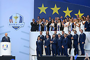 Team Europe during the Opening Ceremony of Ryder Cup 2018, at Golf National in Saint-Quentin-en-Yvelines, France, September 27, 2018 - Photo Philippe Millereau / KMSP / ProSportsImages / DPPI