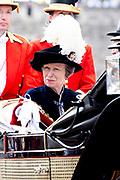 """Koning Willem Alexander wordt door Hare Majesteit Koningin Elizabeth II geïnstalleerd in de 'Most Noble Order of the Garter'. Tijdens een jaarlijkse ceremonie in St. Georgekapel, Windsor Castle, wordt hij geïnstalleerd als 'Supernumerary Knight of the Garter'.<br /> <br /> King Willem Alexander is installed by Her Majesty Queen Elizabeth II in the """"Most Noble Order of the Garter"""". During an annual ceremony in St. George's Chapel, Windsor Castle, he is installed as """"Supernumerary Knight of the Garter"""".<br /> <br /> Op de foto / On the photo: Princess Anne"""