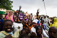 Malians celebrate the arrival of French troops in their town on Jan. 28, 2013.