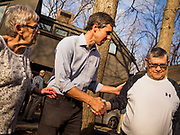 """06 APRIL 2019 - DES MOINES, IOWA: BETO O'ROURKE talks with supporters at a campaign event in Des Moines. O'Rourke held a series of """"house parties"""" in Des Moines Saturday as a part of his 2020 campaign to be the Democratic nominee for the US Presidential election. He is crisscrossing Iowa through the weekend with stops throughout the state. Iowa holds its caucuses, considered the kickoff of the US Presidential campaign, on Feb. 3, 2020.  PHOTO BY JACK KURTZ"""