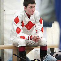Robert McNamara waits for his next race at the Killaloe Point to Point on Sunday.<br />