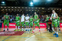 Players of Slovenia during friendly basketball match between National teams of Slovenia and Ukraine at day 1 of Adecco Cup 2015, on August 21 in Koper, Slovenia. Photo by Grega Valancic / Sportida