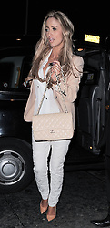 Chantelle Houghton attends The Health Lottery Champagne Tea held at Claridges hotel and after goes to the Novikov Restaurant in Mayfair, London, UK. 28/03/2013<br />BYLINE MUST READ : GOTCHAIMAGES.COM<br /><br />Copyright by © Gotcha Images Ltd. All rights reserved.<br />Usage of this image is conditional upon the acceptance <br />of Gotcha Images Ltd, terms and conditions available at<br />www.gotchaimages.com