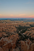 Bryce Canyon after sunset from the Rim Trail - Utah
