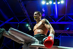 07.04.2018, Erste Bank Arena, Wien, AUT, Bounce Fight Night, Mittelgewicht, Marcos Nader (AUT) vs Darko Knezevic (SRB), im Bild Marcos Nader (AUT) // during Middleweight, with the fight betweeb Marcos Nader of Austria vs Darko Knezevic of Serbia of the Bounce Fight Night at the Erste Bank Arena in Wien, Austria on 2018/04/07. EXPA Pictures © 2018, PhotoCredit: EXPA/ Sebastian Pucher