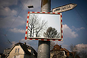 A sign showing the entrance to Omega headquarters in Bienne, Switzerland. Image © Angelos Giotopoulos/Falcon Photo Agency