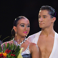 23 January 2010: Elena Salikohva and Charles-Guillaume Schmitt are seen during the Masters Bercy Latin and Ballroom (standard) Dancesport Championship 2010, at Palais Omnisports Paris Bercy, in Paris, France. .
