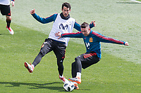 Dani Parejo and Iago Aspas during Spain training session a few days before soccer match between Spain and Argentina in Madrid , Spain. March 24, 2018. (ALTERPHOTOS/Borja B.Hojas)