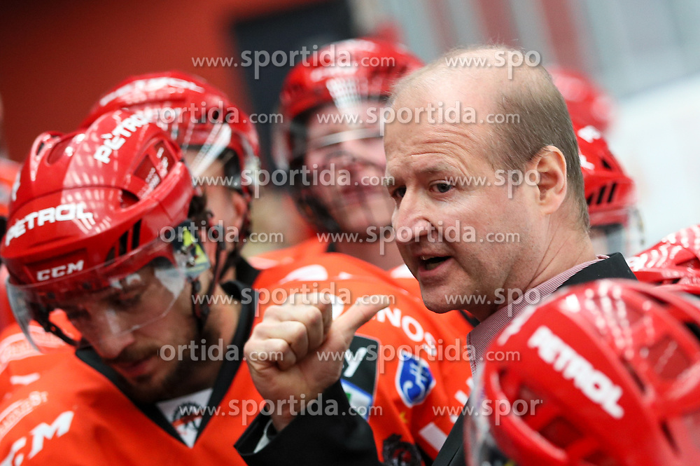 Nik Zupancic, head coach of Jesenice during ice hockey match between HDD SIJ Acroni Jesenice and HDD Olimpija Ljubljana in Final of Slovenian League 2016/17, on April 9, 2017 in Podmezaklja, Jesenice, Slovenia. Photo by Matic Klansek Velej / Sportida