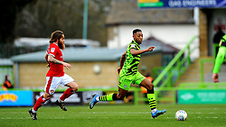 Stuart Sinclair of Walsall chases down Ebou Adams of Forest Green Rovers- Mandatory by-line: Nizaam Jones/JMP - 08/02/2020 - FOOTBALL - New Lawn Stadium - Nailsworth, England - Forest Green Rovers v Walsall - Sky Bet League Two