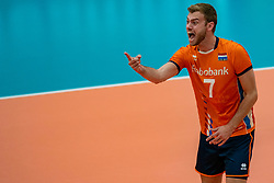 09-06-2019 NED: Golden League Netherlands - Spain, Koog aan de Zaan<br /> Fourth match poule B - The Dutch beat Spain again in five sets in the European Golden League / Gijs Jorna #7 of Netherlands