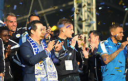 Leicester City players during the celebrations - Mandatory by-line: Jack Phillips/JMP - 16/05/2016 - FOOTBALL - Leicester City FC, Sky Bet Premier League Winners 2016 - Leicester City Victory Parade