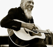 Richie Havens photographed for Fretboard Journal. (Photo by Robert Falcetti)