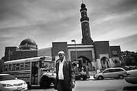 A man comes out from ISBCC after Friday's prayer in Boston, MAssachusetts, 2011.