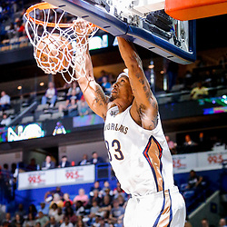 Mar 31, 2017; New Orleans, LA, USA; New Orleans Pelicans forward Dante Cunningham (33) dunks against the Sacramento Kings during the first quarter of a game at the Smoothie King Center. Mandatory Credit: Derick E. Hingle-USA TODAY Sports