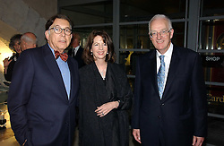 NORMAN KURLAND, DEBORAH DAVID and TIMOTHY STEVENS at the opening reception of 'Bejewelled by Tiffany 1837-1987' at The Gilbert Collection, Somerset House, London on 21st June 2006.