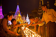 Shwedagon Pagoda in Yangon, Myanmar (Rangoon, Burma). The gold-leafed Buddhist Pagoda and surrounding shrines is the most important religious site in the country..
