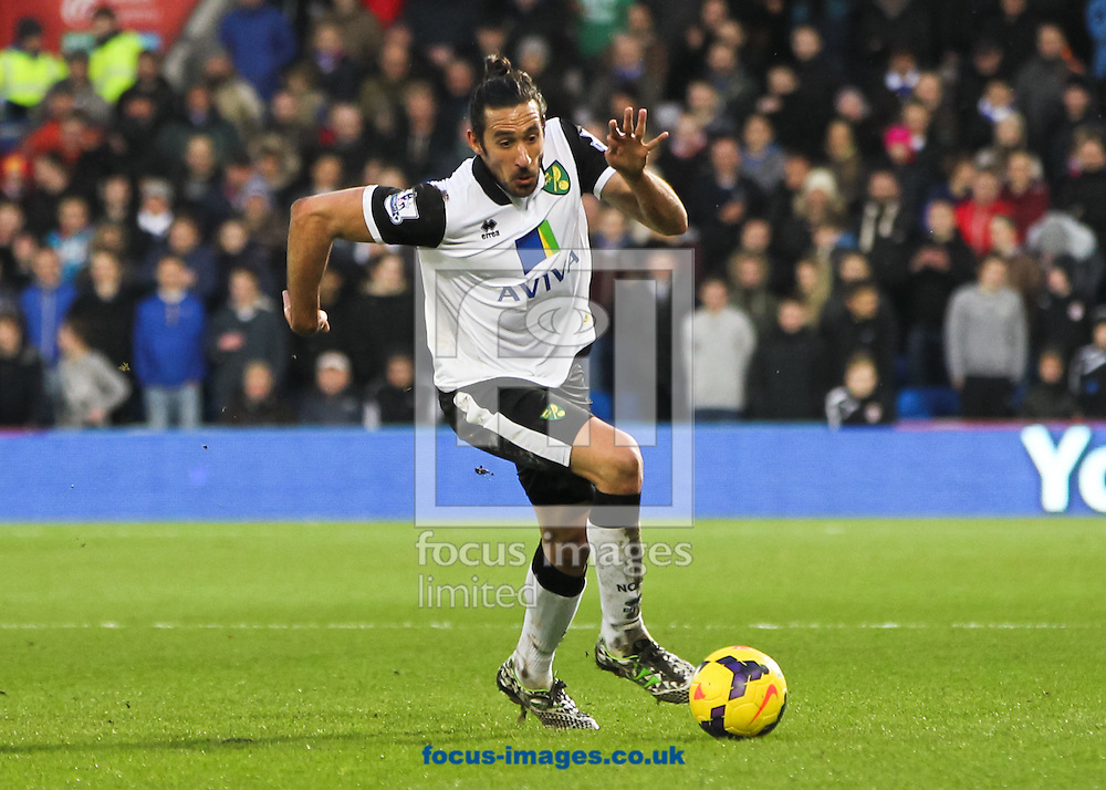 Picture by Tom Smith/Focus Images Ltd 07545141164<br /> 01/02/2014<br /> Jon&aacute;s Guti&eacute;rrez of Norwich City in possession of the ball during the Barclays Premier League match at the Cardiff City Stadium, Cardiff.