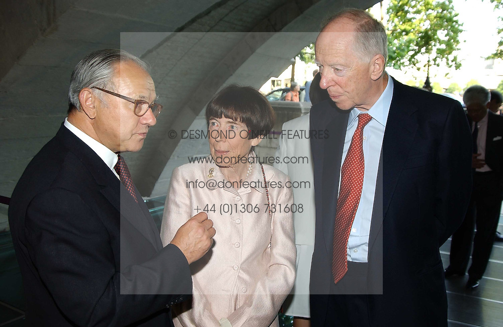 Left to right, LORD &amp; LADY ROTHSCHILD and HUBERT BURDA  at the opening of 'Princely Splendour; The Dresden Court 1580-1620' a new temporary exhibition at The Gilbert Collection, Somerset House, London sposored by Hubert Bruda Media, The Schroder Family and WestLB AG on 8th June 2005.<br /><br />NON EXCLUSIVE - WORLD RIGHTS