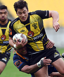 Wellington's Thomas Unaga-Jensen against Otago in the Mitre 10 Rugby match at Westpac Stadium, Wellington, New Zealand, Sunday October 01,, 2017. Credit:SNPA / Ross Setford  **NO ARCHIVING**