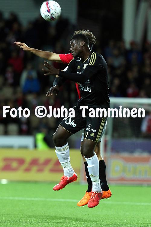 28.9.2015, Sonera Stadion, Helsinki.<br /> Veikkausliiga 2015.<br /> Helsingfors IFK - Sein&auml;joen Jalkapallokerho<br /> Ariel &quot;Tuco&quot; Ngueukam - SJK
