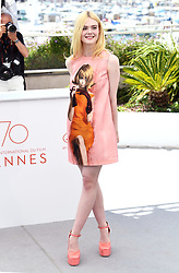 Elle Fanning attending the How to Talk to Girls at Parties Photocall as part of the 70th Cannes Film Festival. Photo credit should read: Doug Peters/EMPICS Entertainment