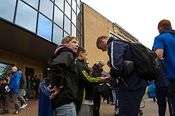 Players sign autographs for fans at the Kassam Stadium - Photo mandatory by-line: Dougie Allward/JMP - Tel: Mobile: 07966 386802 02/11/2013 - SPORT - FOOTBALL - Kassam Stadium - Oxford - Oxford United v Bristol Rovers - Sky Bet League Two