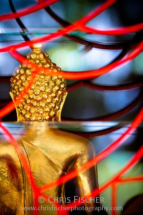 Buddha statue at the Kong Meng San Phor Park See Monastery in Singapore.