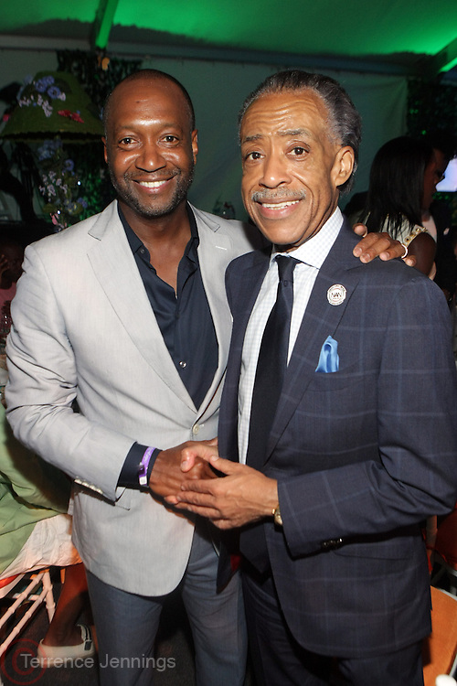 Water Mill, New York: (L-R) Jeff Friday, CEO & Founder, The Film Life and Rev. Al Sharpton, Founder & President, National Action Network/ MSNBC Host, Poltics Now  attend the RUSH Philanthropic Arts Foundation 15th Annual Art For Life Benefit Gala held in the Hamptons at the Farmview Farms on July 26, 2014  in Water Mill, New York. (Terrence Jennings)