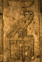 Part of a wall frieze on the wall of a chamber in the Persian Shaft, Sakkara, Egypt.
