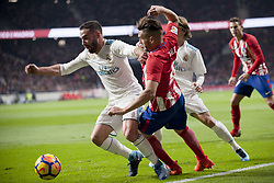 November 18, 2017 - Madrid, Madrid, Spain - Carvajal, Koke, Modric during the match between Atletico de Madrid and Real Madrid, week 12 of La Liga at Wanda Metropolitano stadium, Madrid, SPAIN - 18th November of 2017. (Credit Image: © Jose Breton/NurPhoto via ZUMA Press)