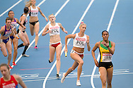 (FRONT) Iga Baumgart and (BACK) Patrycja Wyciszkiewicz both from Poland compete in women's relay 4x400 meters qualification during the 14th IAAF World Athletics Championships at the Luzhniki stadium in Moscow on August 16, 2013.<br /> <br /> Russian Federation, Moscow, August 16, 2013<br /> <br /> Picture also available in RAW (NEF) or TIFF format on special request.<br /> <br /> For editorial use only. Any commercial or promotional use requires permission.<br /> <br /> Mandatory credit:<br /> Photo by © Adam Nurkiewicz / Mediasport