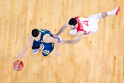 Matic Rebec of Slovenia and Dogus Balbay of Turkey during basketball match between National teams of Slovenia and Turkey in Round #8 of FIBA Basketball World Cup 2019 European Qualifiers, on September 17, 2018 in Arena Stozice, Ljubljana, Slovenia. Photo by Urban Urbanc / Sportida