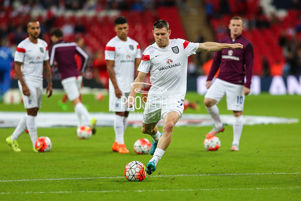 England's James Milner  before the UEFA European 2016 Qualifying match between England and Switzerland at Wembley Stadium, London, England on 8 September 2015. Photo by Shane Healey.