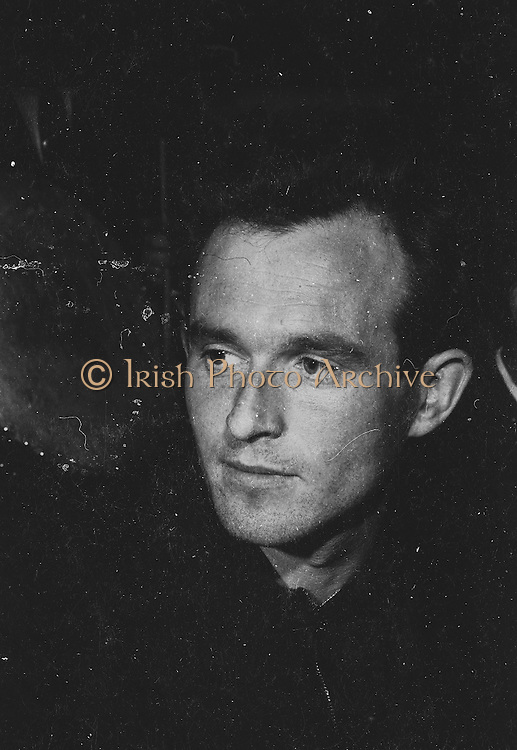 "Gael Linn.Pictured at the rehearsals is Tomas Riabhach, piper, who is taking part in the Gael Linn production Seán Ó Riada's ""Spailpin a Ruin"" premiere at Damer Theatre, Stephen's Green as part of the International Theatre Festival..08.09.1960"