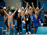 Esultanza della panchina italiana Italian exultation.Italy Vs. Hungary ITA-HUN.Water Polo Men Quarterfinal.London 2012 Olympics - Olimpiadi Londra 2012.day 13 Aug.8.Photo G.Scala/Deepbluemedia.eu/Insidefoto