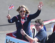 MAR 21 2014 Lizzy Yarnold open top bus parade
