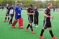 BLOEMENDAAL -  Teleurstelling bij Amsterdam  na  Hoofdklasse hockey Bloemendaal-Amsterdam (4-2) . COPYRIGHT KOEN SUYK