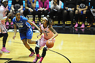 "Mississippi Lady Rebels guard A'Queen Hayes (3) vs. Kentucky at the C.M. ""Tad"" Smith Coliseum in Oxford, Miss. on Monday, February 23, 2015. (AP Photo/Oxford Eagle, Bruce Newman)"