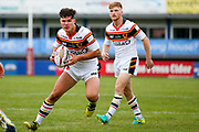 Bradford Bulls second row James Bentley (20) in action  during the Kingstone Press Championship match between Sheffield Eagles and Bradford Bulls at, The Beaumont Legal Stadium, Wakefield, United Kingdom on 3 September 2017. Photo by Simon Davies.