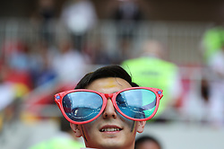 MOSCOW, June 23, 2018  A fan is seen prior to the 2018 FIFA World Cup Group G match between Belgium and Tunisia in Moscow, Russia, June 23, 2018. (Credit Image: © Cao Can/Xinhua via ZUMA Wire)