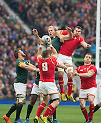 Twickenham, Great Britain, during the Quarter Final 1 game, South Africa vs Wales.  2015 Rugby World Cup,  Venue, Twickenham Stadium, Surrey, ENGLAND.  Saturday  17/10/2015.   [Mandatory Credit; Peter Spurrier/Intersport-images]