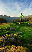 Evening run in the sun, Kentmere, Lake District, Cumbria, UK