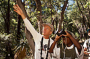 Victor Emanuel helps Kerry Joseph see a woodpecker, Chiricahua Mountains, Arizona..Media Usage:.Subject photograph(s) are copyrighted Edward McCain. All rights are reserved except those specifically granted by McCain Photography in writing...McCain Photography.211 S 4th Avenue.Tucson, AZ 85701-2103.(520) 623-1998.mobile: (520) 990-0999.fax: (520) 623-1190.http://www.mccainphoto.com.edward@mccainphoto.com.