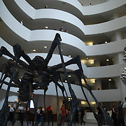 Guggenheim Museum located in Manhattan, New York<br /> The Solomon R. Guggenheim Museum, founded in 1937, is a modern art museum located on the Upper East Side in New York City. It is the best-known of several museums owned and/or operated by the Solomon R. Guggenheim Foundation, and is often called simply The Guggenheim. It is one of the best-known museums in New York City. The main part of the building is a very unusual shape, and was designed by Frank Lloyd Wright.