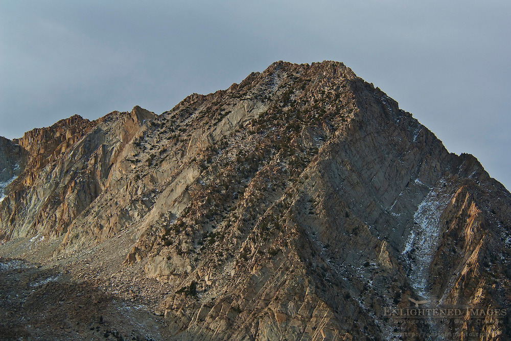 Mountain peak and ridge near Tioga Pass, Mono County, California